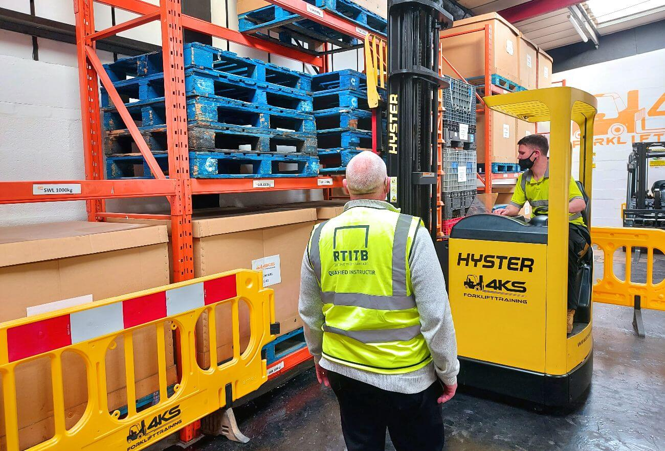 how to operate a reach truck 4KS Forklift Training